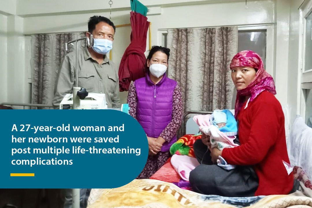 A case of sheer dedication, commitment and humane approach by Apollo TeleHealth Staff and Doctors in Himachal Pradesh – A 27-year-old woman and her newborn were saved post multiple life-threatening complications